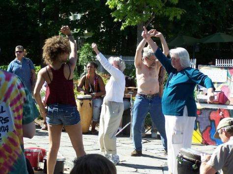 They really know how to party at the Woodstock Drum Circle!